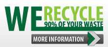 We Recycle up to 90 Percent of your waste!
